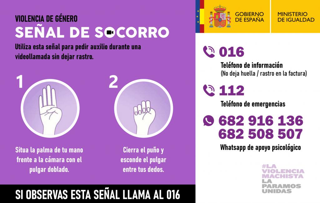 IMG Señal de socorro para casos de violencia de género